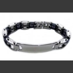 Стальной браслет с резиновыми вставками br226