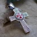 Двухсторонняя подвеска-крест тамплиера