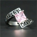 """Кольцо """"Harley Davidson"""" с фианитом"""
