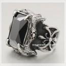Массивный перстень с кубическим цирконием