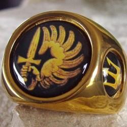 """Позолоченный перстень """"Гладиатор"""""""