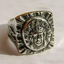 """Mассивный мексиканский перстень """"Вождь"""""""