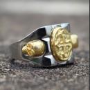 Мексиканский перстень с крестом и черепами