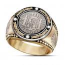 """Массивный перстень """"Испанский доллар"""""""
