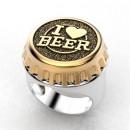 "Перстень ""Я люблю пиво"""