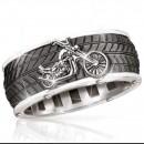 Кольцо с мотоциклом