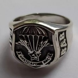 Перстень «Никто кроме нас» из серебра 925 пробы