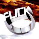 """Стальной перстень """"FUCK"""""""