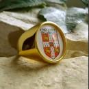 """Позолоченный перстень """"Университет Кембриджа"""""""