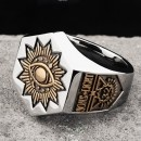 """Позолоченный масонский перстень """"Всевидящее Око"""""""