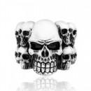 Стальной перстень с черепами