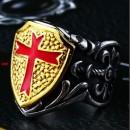 """Массивный перстень """"Крест на щите"""""""