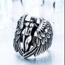 Стальной перстень с крыльями
