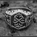 Стальной перстень с кельтским узором