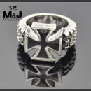 """Массивный стальной перстень """"Железный крест"""""""