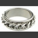 Стальное кольцо с вращающейся цепью